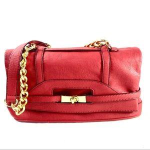 MELIE BIANCO | red vegan leather foldover bag